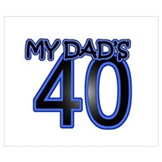 Dad's Forty Poster