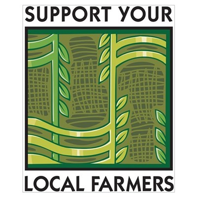 Support Your Local Farmers Framed Print
