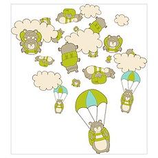 Skydiving Hamsters Poster