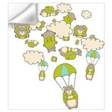 Skydiving Hamsters Wall Decal