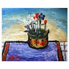 ", ""Flowers on a Sunny Day&q Canvas Art"