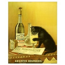Absinthe Bourgeois Chat Noir Poster