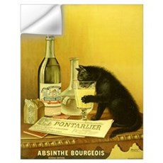 Absinthe Bourgeois Chat Noir Wall Decal