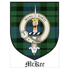 McKee Clan Crest Tartan Poster
