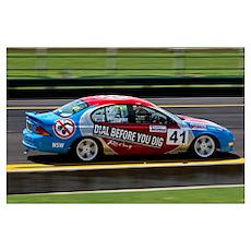 Sandown Auto Racing Poster