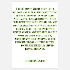 Idiotic Oath