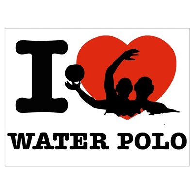 I love Water polo Poster