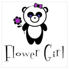 Flower Girl - Panda Poster