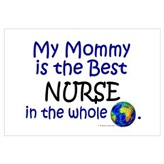 Best Nurse In The World (Mommy) Canvas Art