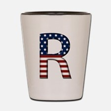 R Stars and Stripes Shot Glass