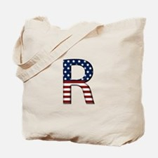 R Stars and Stripes Tote Bag