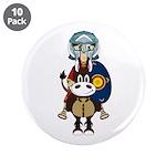 "Roman Gladiator on Horse 3.5"" Button (10 Pk)"