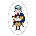 Roman Gladiator on Horse Sticker (10 Pk)