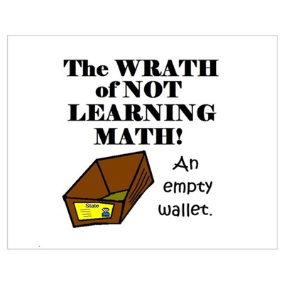 THE WRATH OF NOT LEARNING MAT Poster