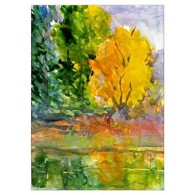 Autumn Woods Poster