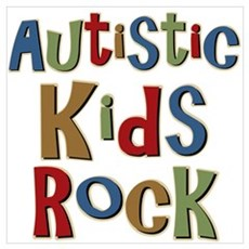 Autistic Kids Rock Framed Print