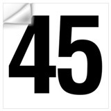 45 birthday Wall Decals