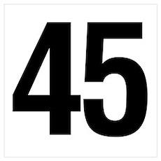 Number 45 Helvetica Poster