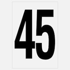 Number 45 Helvetica