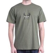 European Skull mount with eagle feathers T-Shirt