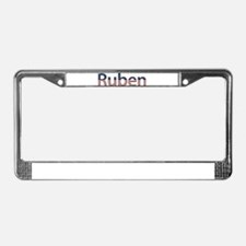 Ruben Stars and Stripes License Plate Frame
