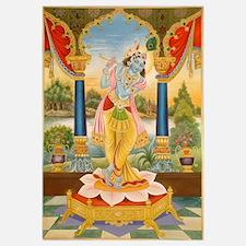 Krishna On Lotus Blossom Un
