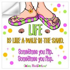 Life is like a walk in the sand Wall Decal