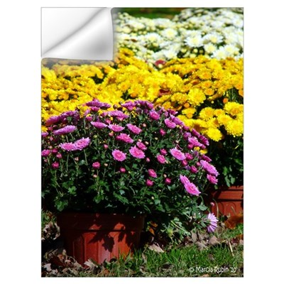 COLORFUL MUMS Wall Decal