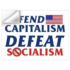 Defend Capitalism, Defeat Socialism Wall Decal