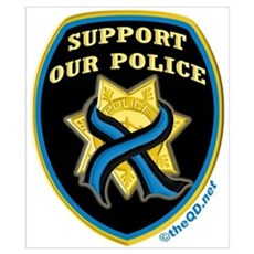 Thin Blue Line Support Police Poster