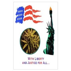 LIBERTY & JUSTICE FOR ALL Poster