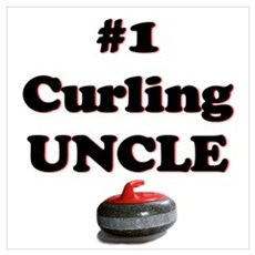 #1 Curling Uncle Poster