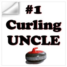 #1 Curling Uncle Wall Decal