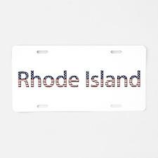 Rhode Island Stars and Stripes Aluminum License Pl