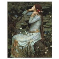 Ophelia with Flowers Print Poster