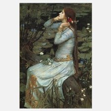Ophelia with Flowers Print