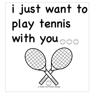 i just want to play tennis with you... Large Poste Canvas Art