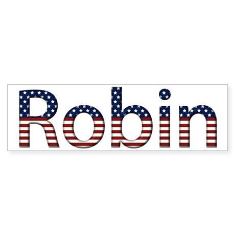 Robin Stars and Stripes Bumper Sticker