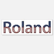 Roland Stars and Stripes Bumper Bumper Bumper Sticker