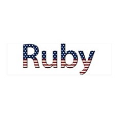 Ruby Stars and Stripes 42x14 Wall Peel