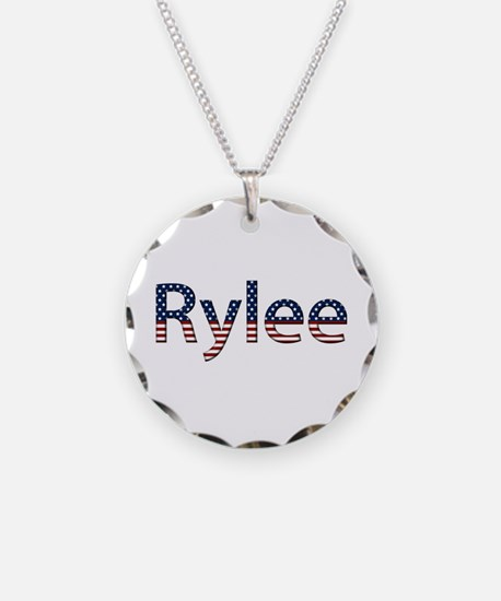 Rylee Stars and Stripes Necklace Circle Charm