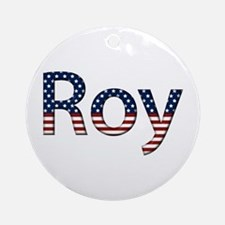 Roy Stars and Stripes Round Ornament