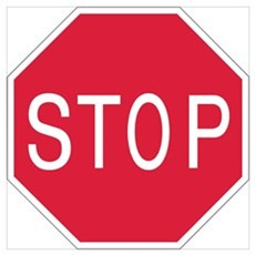 Stop Sign Canvas Art