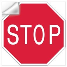 Stop Sign Wall Decal