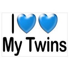 I Love My Twins Poster