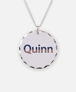 Quinn Stars and Stripes Necklace Circle Charm