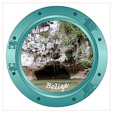 Belize Porthole Poster