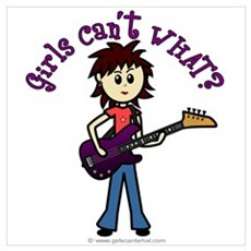 Light Bass Guitar Poster