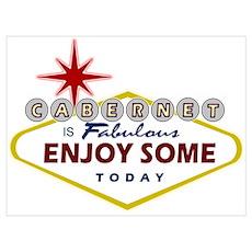 Las Vegas Cabernet Sauvignon Poster