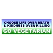 vegetarian... Bumper Bumper Sticker